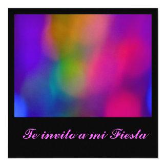 Invitación - Te invito a mi Fiesta - Multicolor Card