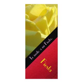 Invitación - Te invito a mi Fiesta - Rosa Amarilla 4x9.25 Paper Invitation Card