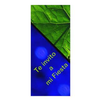 Invitación -Te invito a mi Fiesta - Una Hoja Verde 4x9.25 Paper Invitation Card