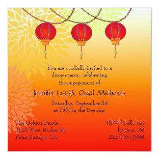 Invitación temática china del fiesta de compromiso