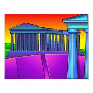 Invitación temática colorida del fiesta antigua