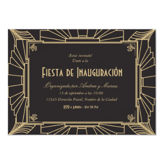 Invitación temática de 1920 fiesta de inauguración card