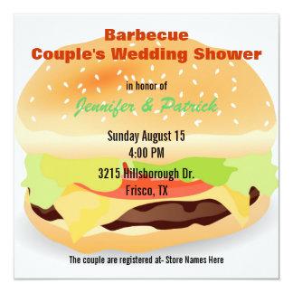 Invitación temática de la ducha del boda del par