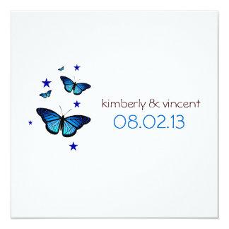 Invitación temática del boda de la mariposa invitación 13,3 cm x 13,3cm