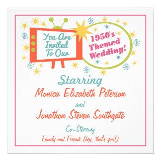 Invitación temática del boda de los años 50 retros