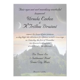 Invitación temática del boda del espacio