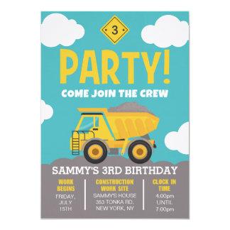 Invitación temática del fiesta de la construcción