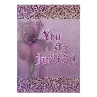 Invitación temática del iris de Jaguarwoman