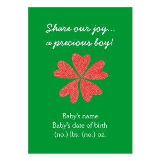 Invitación temática del nacimiento del bolsillo tarjetas de visita grandes