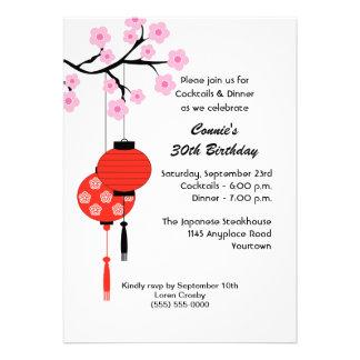 Invitación temática japonesa del cumpleaños