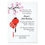 Invitación temática japonesa del cumpleaños invitación 12,7 x 17,8 cm
