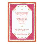 Invitación temática marroquí del boda