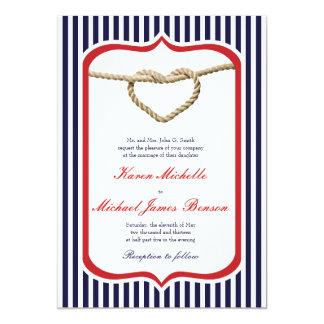 Invitación temática náutica del boda