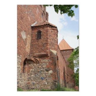 Invitación teutónica de Neidenburg del castillo de