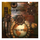 Invitación todo el diseño de Zizzago Steampunk de