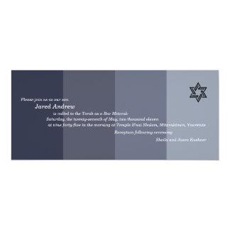Invitación tonal de Mitzvah de la barra negra Invitación 10,1 X 23,5 Cm