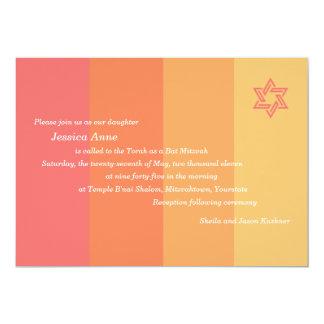 Invitación tonal de Mitzvah del palo de la fruta Invitación 12,7 X 17,8 Cm