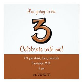 Invitación tonta del cumpleaños del chocolate del