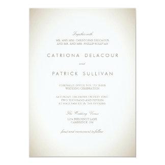 Invitación tradicional de papel del boda del invitación 12,7 x 17,8 cm