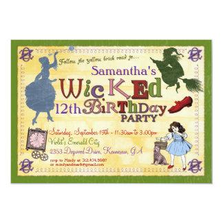 Invitación traviesa del fiesta - mago de Oz Invitación 12,7 X 17,8 Cm