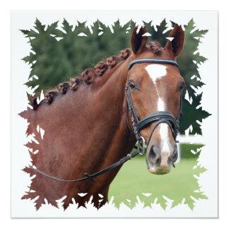 Invitación trenzada de la melena del caballo