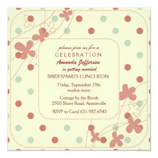 Invitación trenzada de las flores