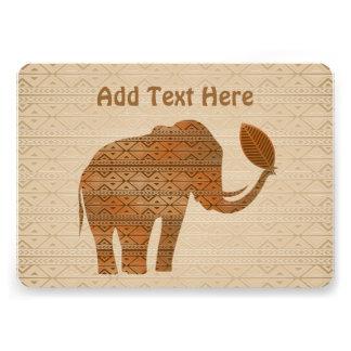 Invitación tribal del diseño del arte del elefante