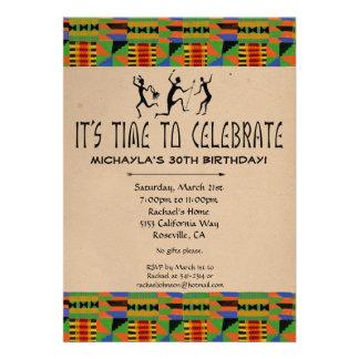 Invitación tribal del fiesta del safari - paño de
