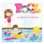 Invitación triguena de la fiesta en la piscina del