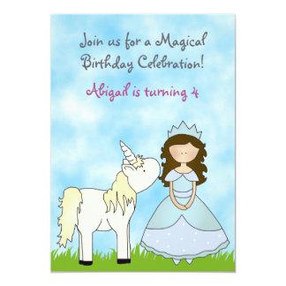 Invitación triguena del cumpleaños de la princesa