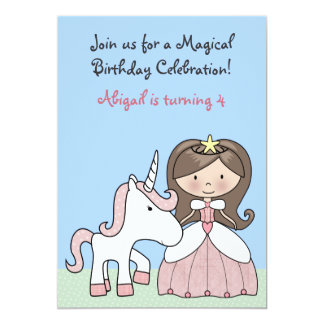 Invitación triguena del cumpleaños de la princesa invitación 12,7 x 17,8 cm