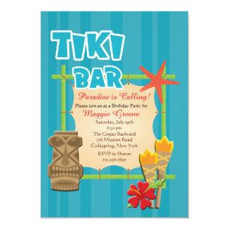 Invitación tropical de la barra de Tiki