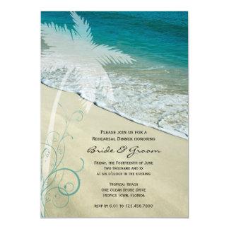 Invitación tropical de la cena del ensayo del boda