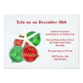 Invitación tropical de la fiesta de Navidad con