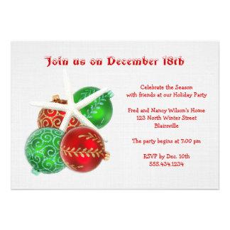Invitación tropical de la fiesta de Navidad con la
