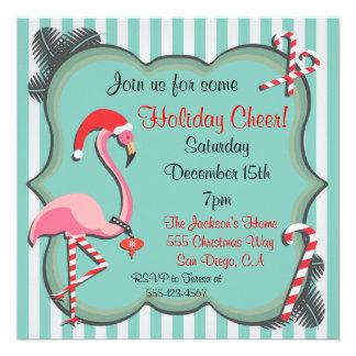 Invitación tropical de la fiesta de Navidad del fl