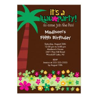 Invitación tropical de la fiesta en la piscina del