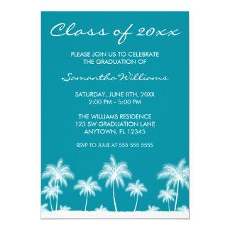 Invitación tropical de la graduación del trullo de