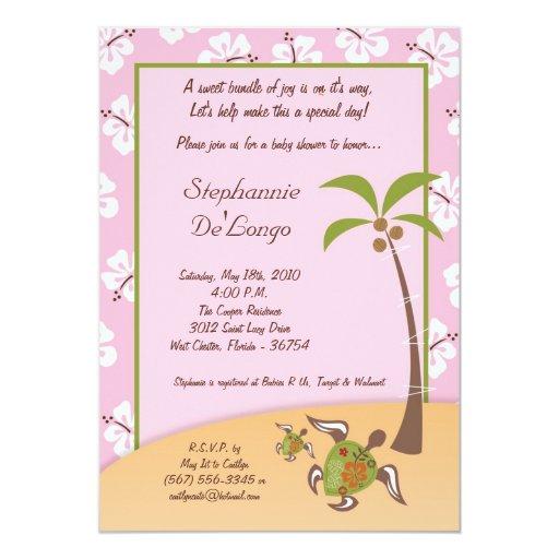 invitación tropical de la mamá fiesta de