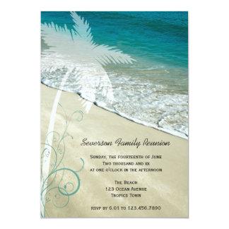 Invitación tropical de la reunión de familia de la