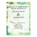 Invitación tropical del boda de la flor invitación 12,7 x 17,8 cm