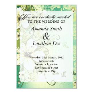 Invitación tropical del boda de la flor