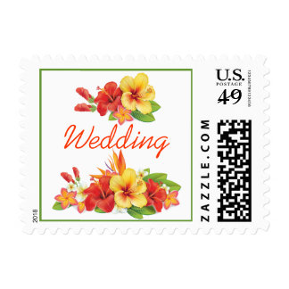 Invitación tropical del boda del hibisco envio