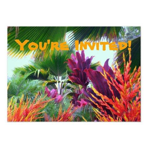 Invitación tropical del fiesta