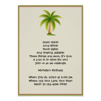 Invitación tropical del fiesta de Luau de la