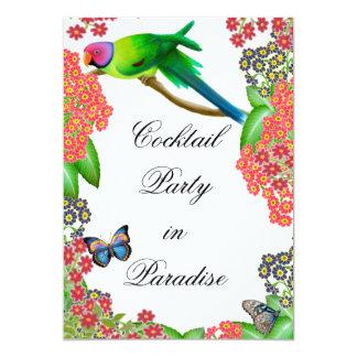 Invitación tropical del fiesta del loro