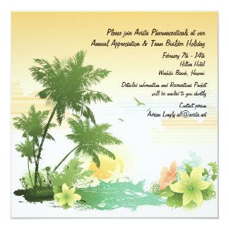 Invitación tropical del oasis