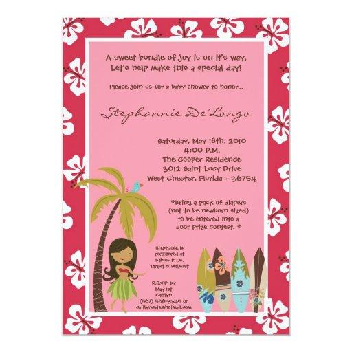 invitación tropical hawaiana de la fiesta de invitación 12,7 x 17,8 cm