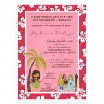 invitación tropical hawaiana de la fiesta de bienv