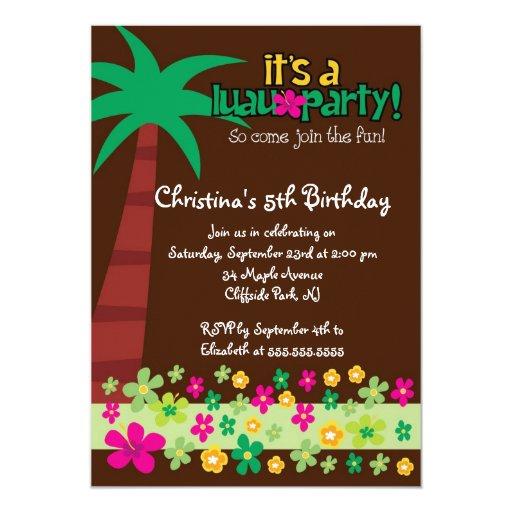 Invitación tropical linda de la fiesta de